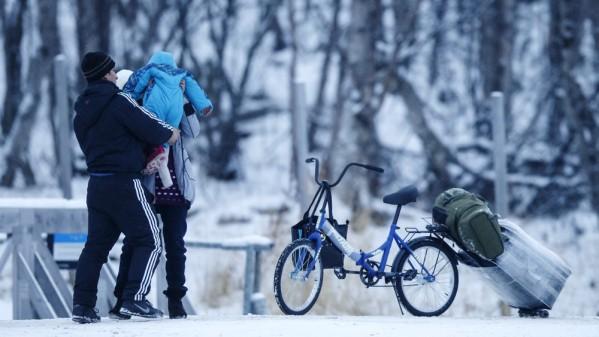 Uchodźcy w Storskog. Zdjęcie - NRK