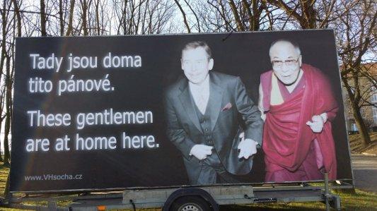 Havel i Dalai Lama. Zdjęcie pochodzi z ČR.cz